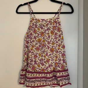 Old Navy Floral Print Swing Sleeveless Top
